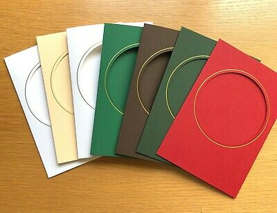 green red 10 A6 Christmas card blanks with apertures