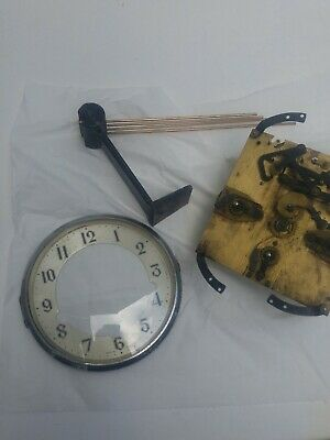 Movement & Chime Gong Post for Enfield British mantel  clock
