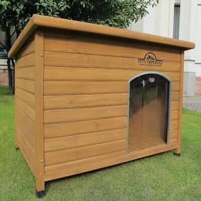 Pets Imperial® Extra Large Insulated Wooden Norfolk Dog Kennel Boxed New