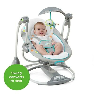 Ingenuity ConvertMe 2 Seat Portable Baby Swing - Gray