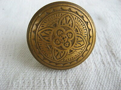 Ornate Brass Decorated Door Knob-Square Spindle Attachment-Excellent Condition
