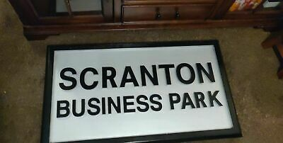 THE OFFICE screen used prop - Scranton Business Park sign from Dunder Mifflin