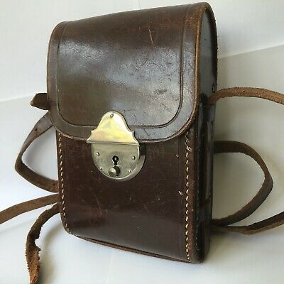 Vintage Agfa SPEEDEX-CLACK Leather Camera Case + Instructions For Use