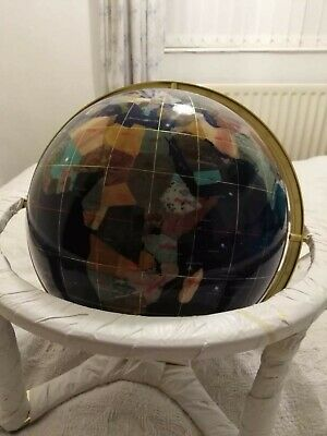 330mm gemstone globe in rotating cradle and central compass