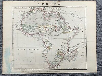 1841 Africa Hand Coloured Antique Map By Aaron Arrowsmith 179 Years Old