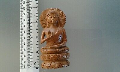 Antique ? Tibetan ? Chinese ? Buddhist Carved Wooden Deity Statue Goddess ?small