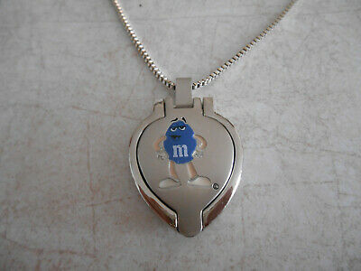 M&M Photo Locket Necklace 20 inch - Blue Character