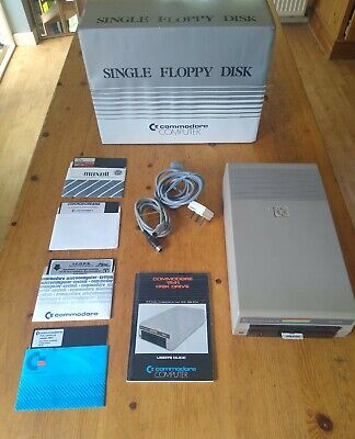 Commodore 1541 Floppy Disk Drive, cables, diskettes, manual, Working, Boxed C64