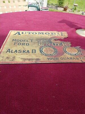Vintage Rare Underhay Oil Company Model T Ford Sign