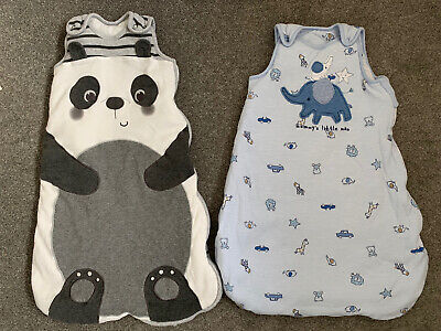 Baby boy newborn 0-6 months 2.5 tog sleeping bag bundle (x2) George Nutmeg