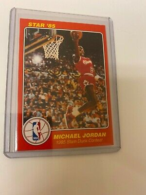 Michael Jordan 1985 STAR Slam Dunk #5 RC! HOF! The Last Dance! Perfect! $!