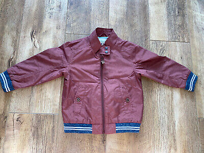 Next Boys Wine Red Light Lined Jacket Age 2-3