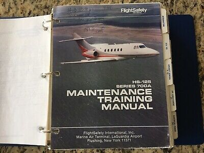 Hawker HS 125 700 Maintenance Training Manual By Flight Safety Great Condition!