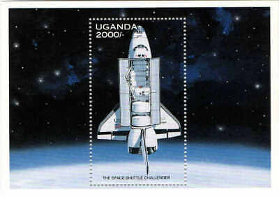 Uganda MNH 1997 Space Exploration Challenger shuttle stamps  MS
