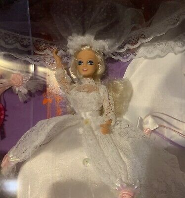 """Starr Model Agency Here Comes the Bride 6"""" Doll Set Bridal Gown & Train Vntg 90s"""