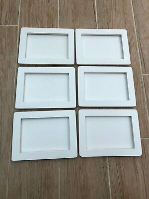 6 X White Frames JOB LOT Craft Supplies Overstock Clearance Wooden Crafts