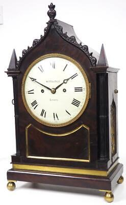 Antique English Bracket Clock By W Strange London Rosewood Double Fusee 8 Day