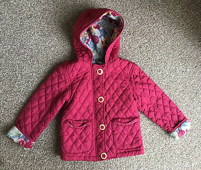 George Girls Pink Quilted Jacket Age 2-3 Yrs