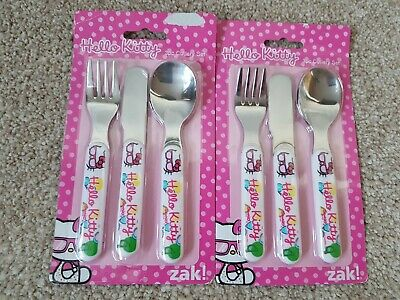 Hello kitty cutlery set x 2 brand new