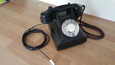 Vintage Bakelite GPO 332L Telephone Converted Excellent