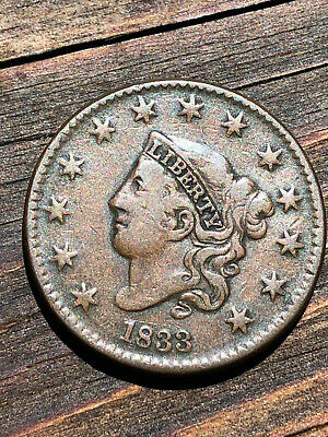 1833 Coronet Head Large Cent Nice Type Coin NO RESERVE USCOINMARKET