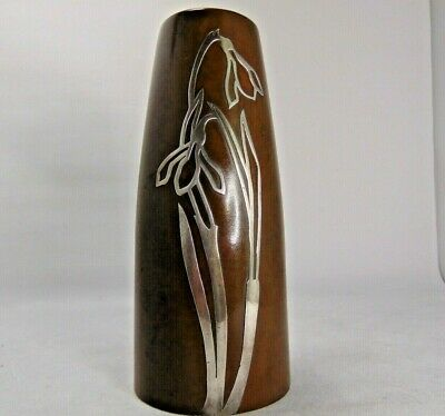 Silver Crest Sterling on Bronze Vase - Arts and Crafts Period