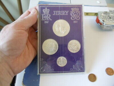 1972 Jersey 4 Coin Silver Mint Set 1.93 ASW