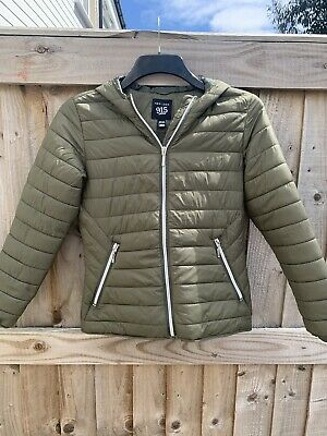 New Look Khaki lightweight puffa jacket age 10-11 girls
