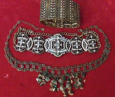 Small Lot Of Vintage Art Deco Metal Jewelry