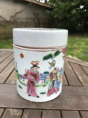 Old China Chinese Famille Rose Porcelain Pot