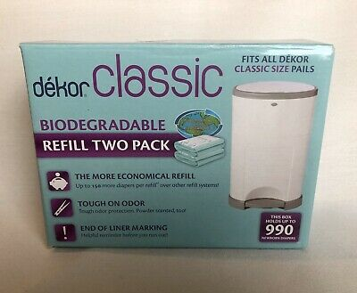 Dekor System Classic Diaper Pail Refill 2 Pack SHIPS FREE