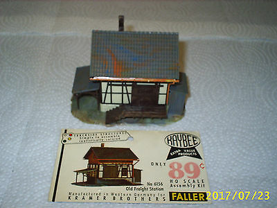 Antique Vintage Realistic Old Town Train Station Cargo Freight Building ho scale