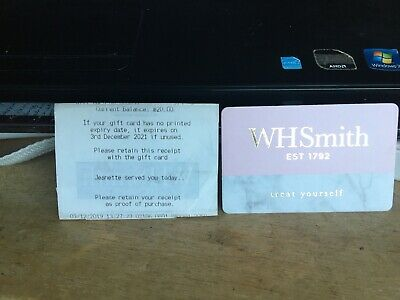 NEW £20~WH Smith~Gift Voucher~Gift Card~Ideal Father's Day~Expires December 2021