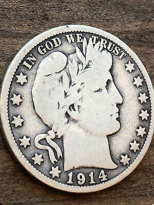 1914 Barber Half Dollar KEY DATE NO RESERVE Silver Coin