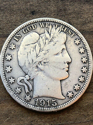 1915 Barber Half Dollar Full Liberty KEY DATE NO RESERVE Silver Coin