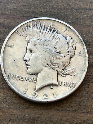 1921 Peace Dollar Silver Coin Key Date NO RESERVE USCOINMARKET