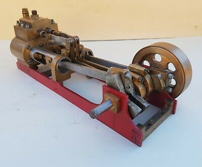 Large horizontal twin cylinder steam engine. 1 inch bore 1.5 inch stroke.