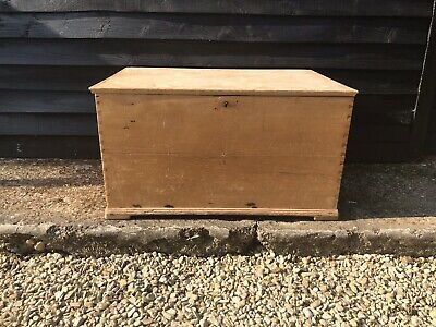 Antique Pine Trunk Box