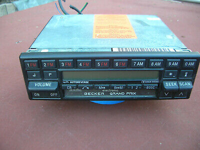 Becker Grand Prix 780 Am/Fm Vintage Reconditioned Radio/Cassette Used Nice