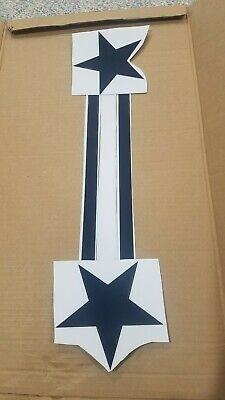 Dallas Cowboys Football Helmet Decals Full Size OLD STYLE