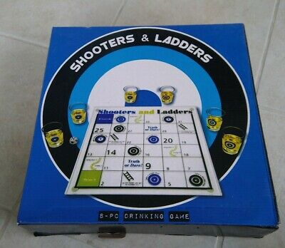 Shooters And Ladders Game Fifth Avenue 8 Pc Fun Drinking Game Nib Fifth Avenue 35 95 Picclick