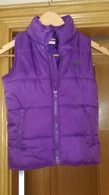 purple padded gilet bodywarmer girls age 7-8 from Name It