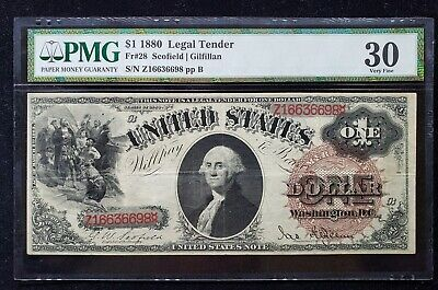 FR. 28 1880 $1 Legal Tender - PMG30 - First of the 1880 series $1's