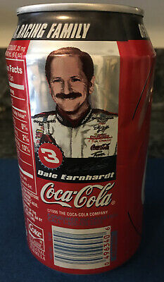 Vintage Rare Empty Sealed Dale Earnhardt Coca-Cola Can