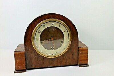 Smiths Antique Art Deco Westminster Silent Chime Mantel Clock