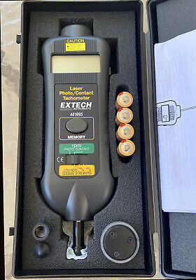 Extech Instruments 461995 Combination Contact/Laser Photo Tachometer - New