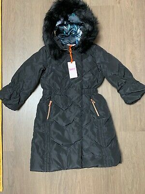 New Ted Baker Girls Black Down Coat Size 6-7 Years