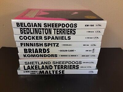 Lot of 9 - Illustrated Dog Care Books - Terriers, Sheepdogs, Spaniels, Briards