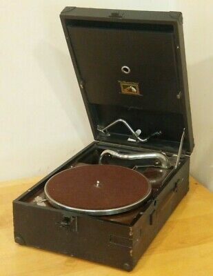 His Masters voice English portable phonograph HMV 1920's