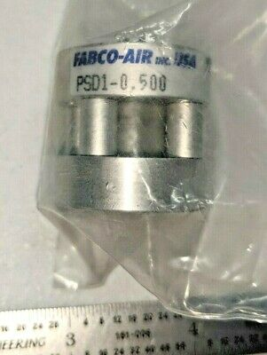 """Fabco-Air PSD1-0.500 Single Bore Double Acting Cylinder, 1/2"""" Bore, 1/2"""" Stroke"""